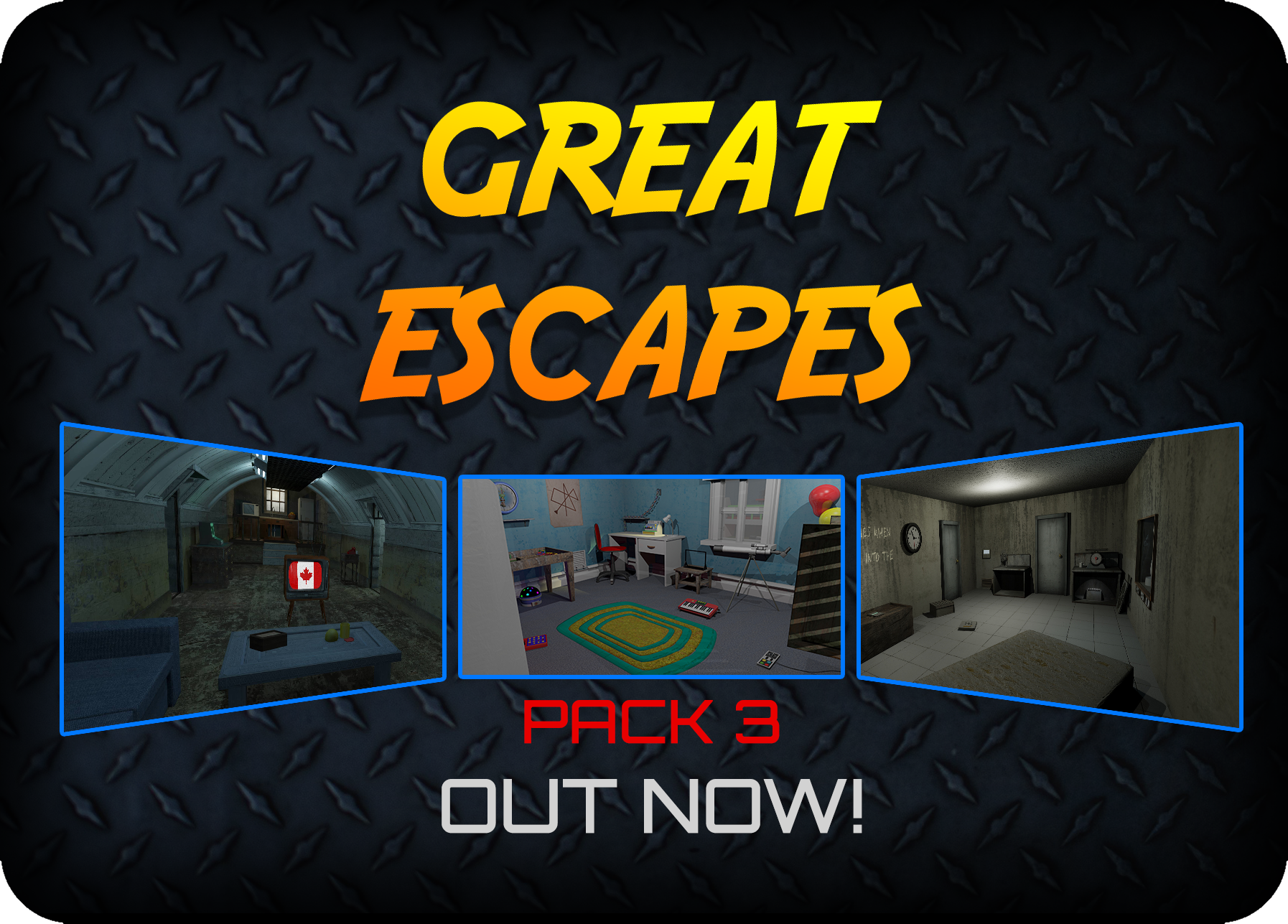 Glitch Classics pack added to Great Escapes